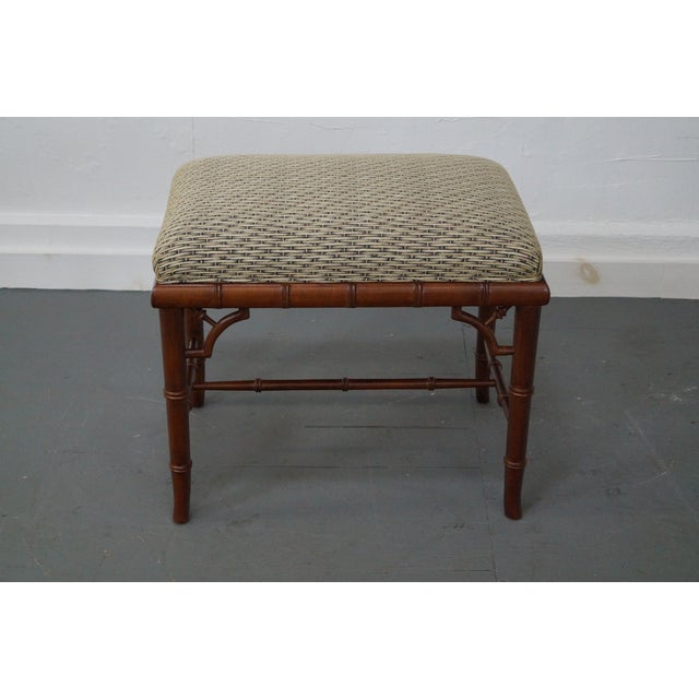 Councill Craftsman Faux Bamboo Ottoman - Image 2 of 10