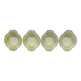Plaid Vernon Ware Soup Bowls - Set of 4
