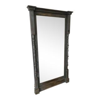 Scandinavian Painted Shabby Chic Floor Mirror For Sale