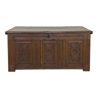18th Century Rustic Country French Trunk For Sale