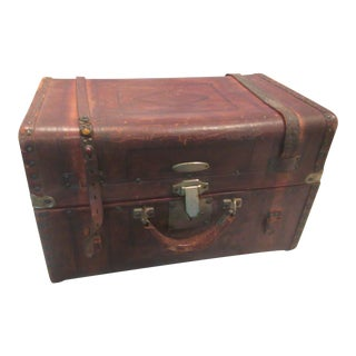 1866 Americana Civil War Era Military Society Chest Trunk MC Lilley For Sale