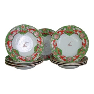 Nine Mason's Armorial Soup Plates -Set of 9
