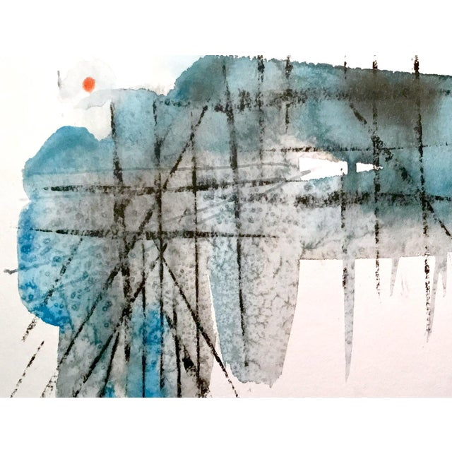 "Abstract ""Rebar 11"" Watercolor Painting For Sale - Image 3 of 3"