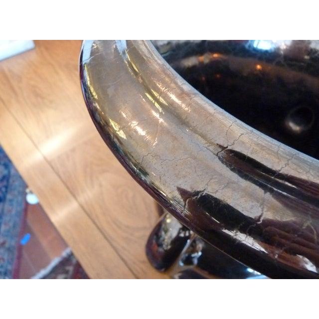 American Classical Haeger Glazed Ceramic Urn For Sale - Image 3 of 10