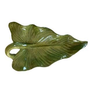 1950s Mid-Century Leaf Platter For Sale