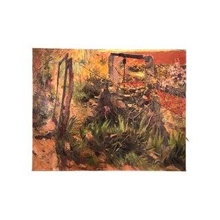 "Joan Orihuel Bartra ""Outside My Window"" 1946 Painting For Sale"