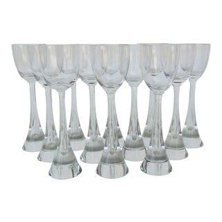 Holmegaard White Wine Glasses - Set of 12 For Sale