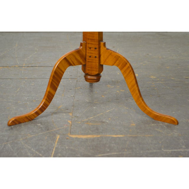 Eldred Wheeler Tiger Maple Snake Foot Candle Stand For Sale - Image 5 of 10
