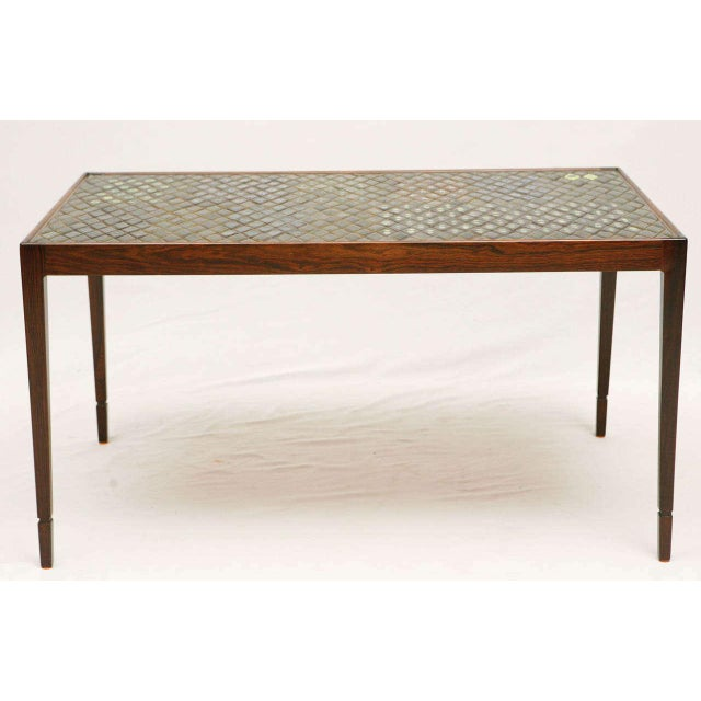 Unusual Bjorn Wiinblad Coffee Table In Rosewood With Wonderful Tiles. Store formerly known as ARTFUL DODGER INC
