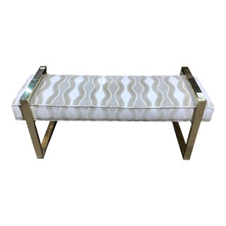 Bernhardt Gold Frame Jet Set Bench For Sale