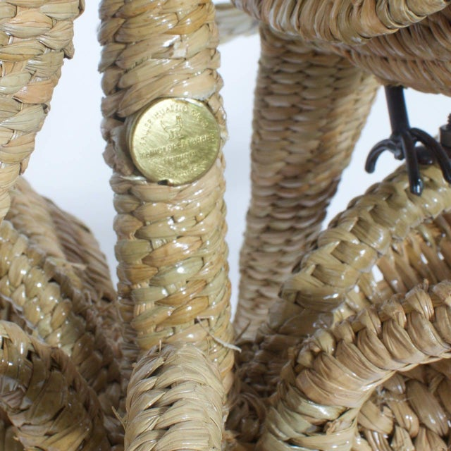 Mario Torres Wicker Parrot Chandelier For Sale In West Palm - Image 6 of 7