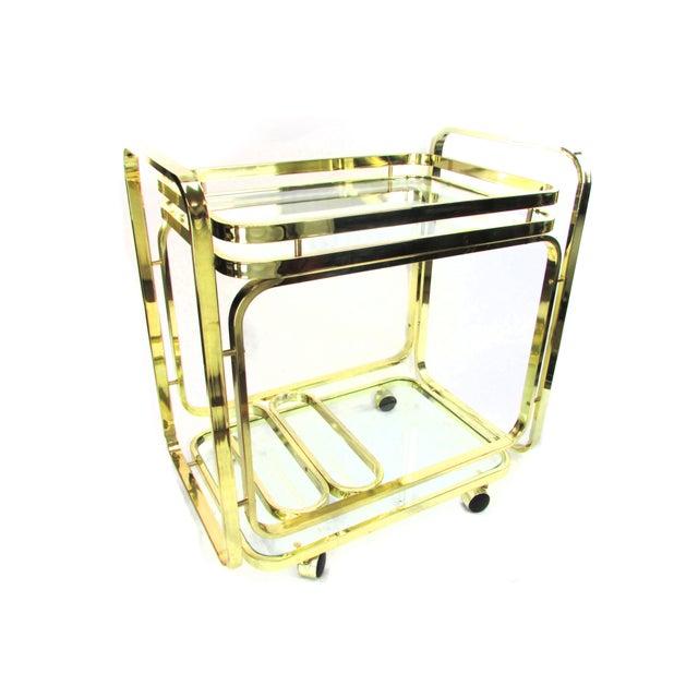 Milo Baughman Brass Bar Cart - Image 6 of 7