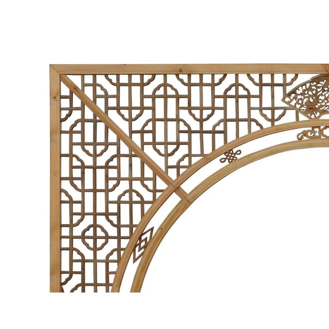 Chinese Light Natural Wood Arch - Image 5 of 10