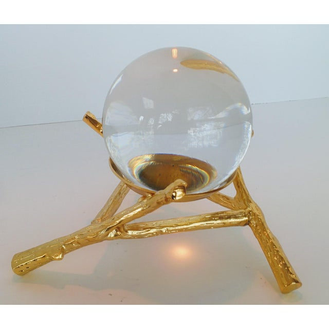 Crystal Orb With Gold Base - Image 7 of 9