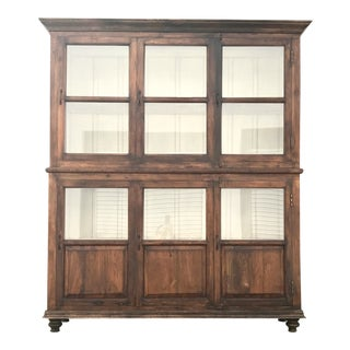 Antiqued Reclaimed Library Wood Vitrine