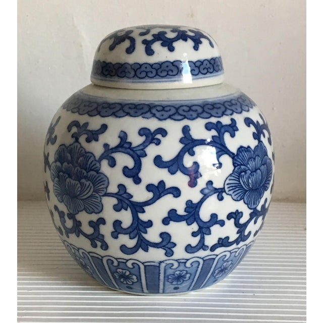 Little Blue & White Chinese Ginger Jar - Image 2 of 7