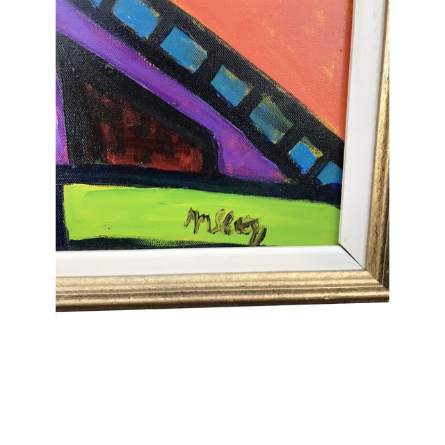 Abstract Vibrant & Colorful Abstract Painting For Sale - Image 3 of 4