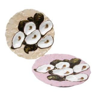 Antique Haviland Limoges Turkey Oyster Plates for Davis Collamore & Co New York - Set of 2 For Sale