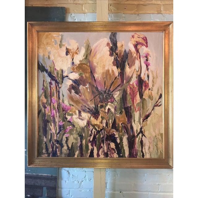 Vintage Floral Oil Painting - Image 2 of 5
