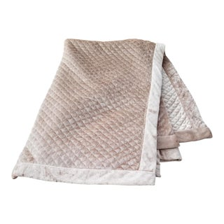 Champagne Quilted Throw