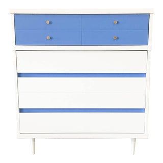 Blue & White Mid-Century Modern Chest