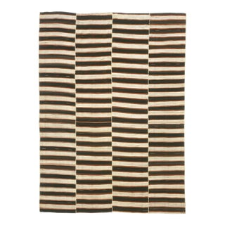 Mid 20th Century Vintage Kilim Composition Rug- 6′ × 8′4″ For Sale