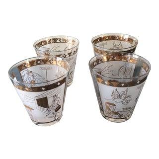 Mid-Century Obstetrician Dof Barware Glasses - Set of 4