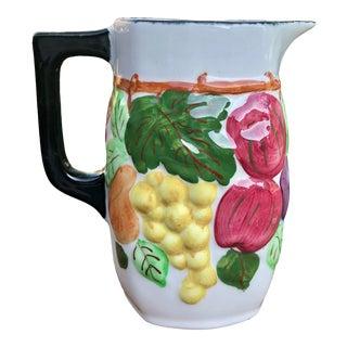 "Blue Ridge Southern Potteries ""Clara"" High Relief Fruit Motif Pitcher For Sale"