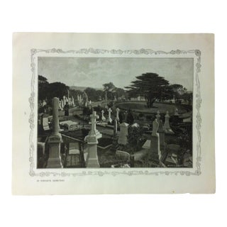 """1906 """"In Highgate Cemetery"""" Famous View of London Print For Sale"""