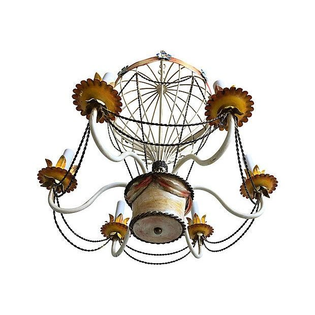 1950s Italian Hot Air Balloon Chandelier For Sale - Image 4 of 6