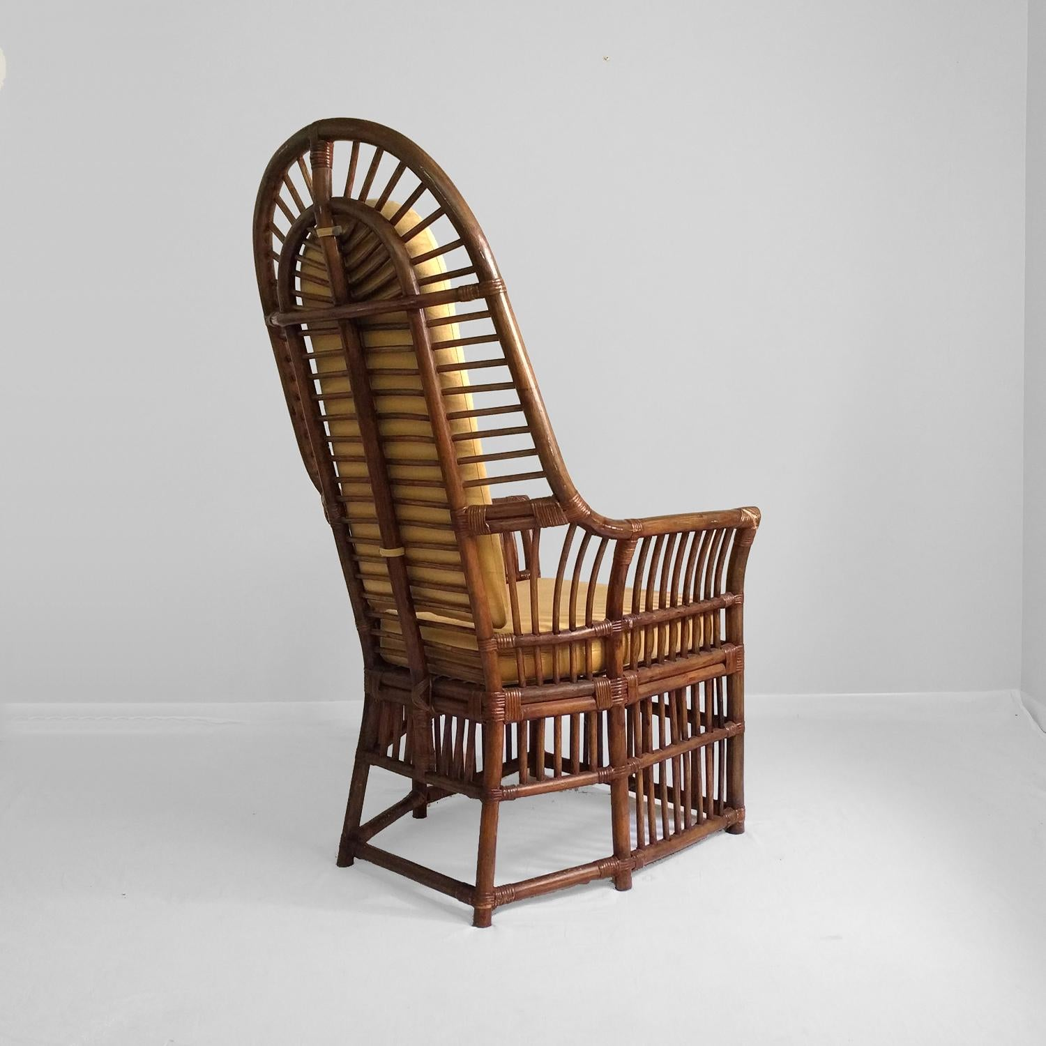 Boho Chic High Back Rattan Chairs   A Pair   Image 5 Of 13