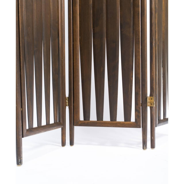 Midcentury walnut screen.