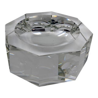 Octagon Crystal Candy Dish, Shallow Bowl or Ashtray For Sale