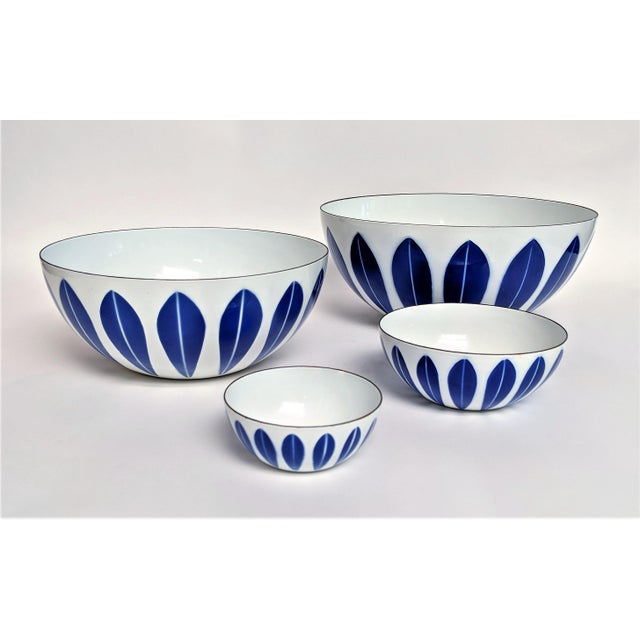 Catherineholm Blue and White Nesting Bowls - Set of 4 For Sale - Image 10 of 10