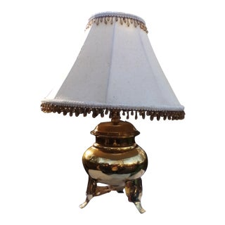 Vintage Brass Footed Table Lamp