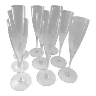 Baccarat Dom Perignon Flutes - Set of 9