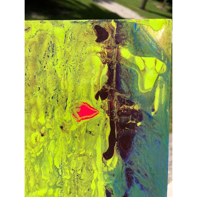 Mirtha Moreno Acrylic Painting Titled: Citron Borealis by Mirtha Moreno For Sale - Image 4 of 6