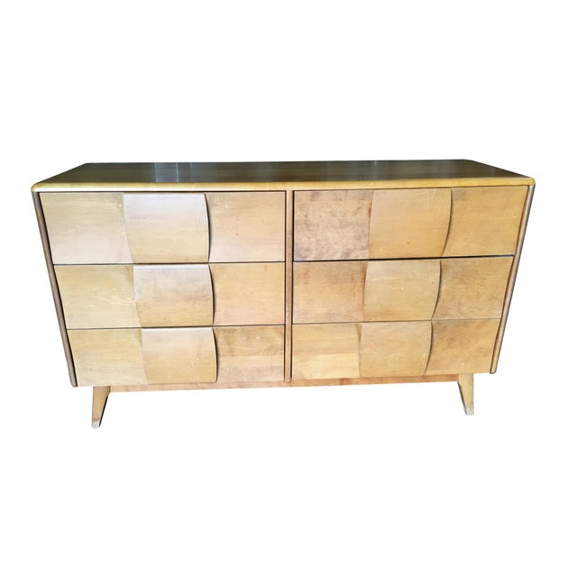 """Heywood-Wakefield """"Sculptura"""" Extra-Wide 6-Drawer Dresser For Sale - Image 10 of 10"""