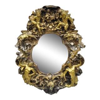 Finesse Originals Gothic Angel Cherub Brutalist Style Wall Mirror For Sale