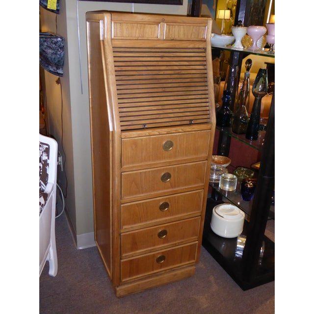 Campaign Style Modern Tall Slender Dresser Valet by American of Martinsville 1960s For Sale - Image 10 of 10