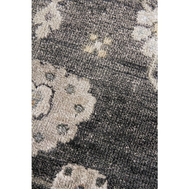 Traditional Chester Hand knotted Bamboo/Silk Midnight Rug-8'x10' For Sale - Image 3 of 8