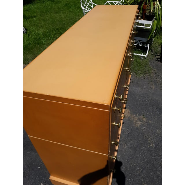 Brown 1940's C. G. Kimerly for Widdicomb 12 Drawer Chest For Sale - Image 8 of 13