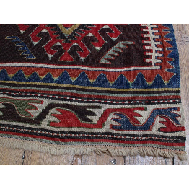 Textile Kilim with Ascending Arches For Sale - Image 7 of 10