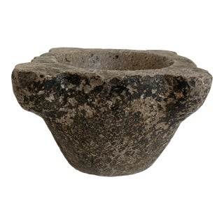Antique Natural Marble Mortar For Sale
