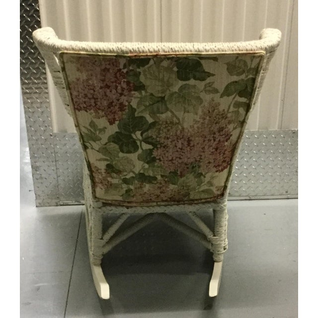 Vintage Wicker Rocking Chair - Image 6 of 10