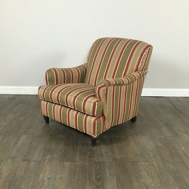 Pottery Barn Striped Armchair - Image 2 of 11