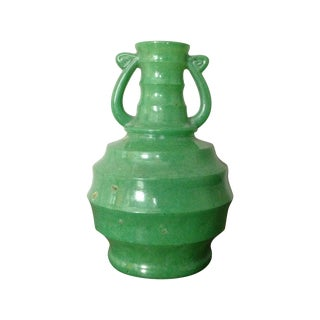 Art Deco Green Glass Vase