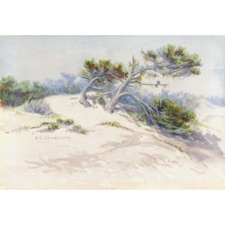 'Sand Dunes' by Winnie Chamberlin, Circa 1910, Early California Woman Artist, William Keith For Sale