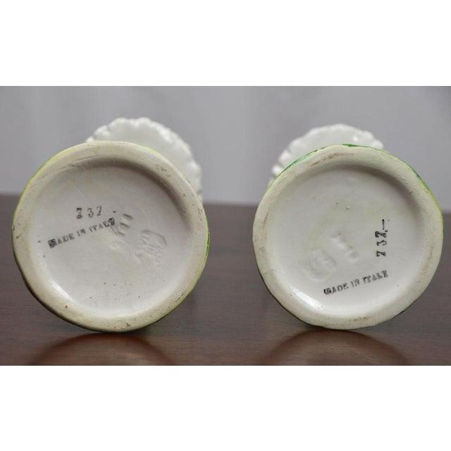 Ceramic Vintage Italian Ceramic Daisy Candlesticks- a Pair For Sale - Image 7 of 8