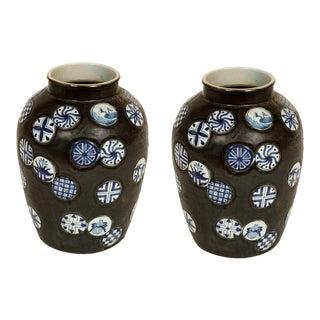 Pair of Ceramic Vases For Sale
